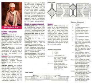 шапочка и шарф описание