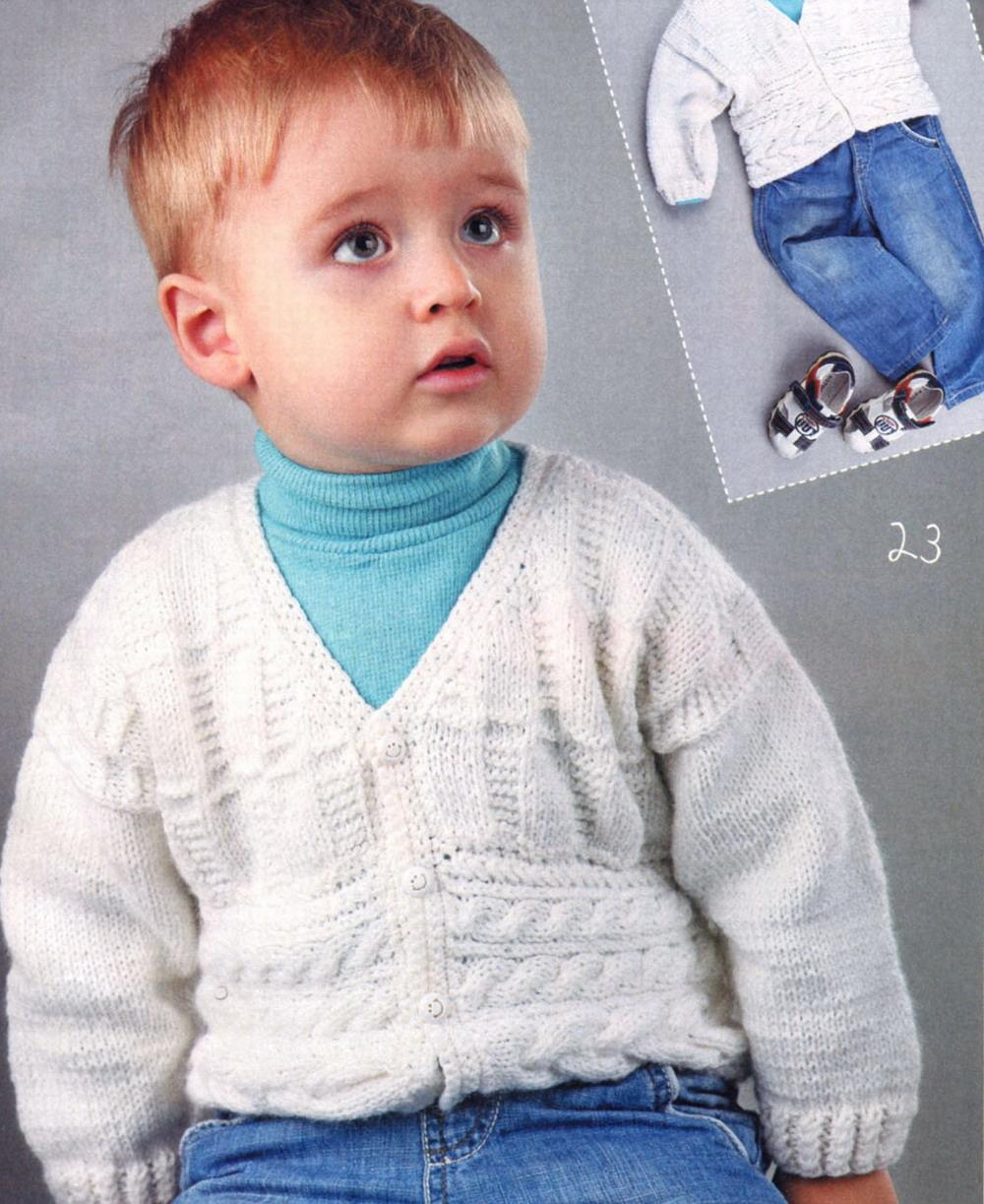 Вяжем на мальчика двух лет