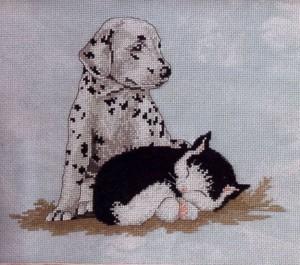 вышивка домашние животные